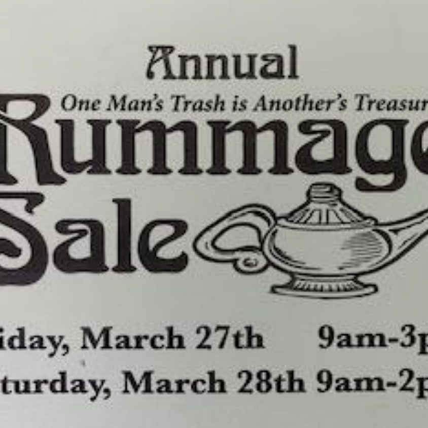 Rummage Sale Collection Begins Sunday, March 22nd