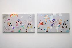 Caculus A & B 170x100cm 2007 Acrylic & inkjet on Canvas