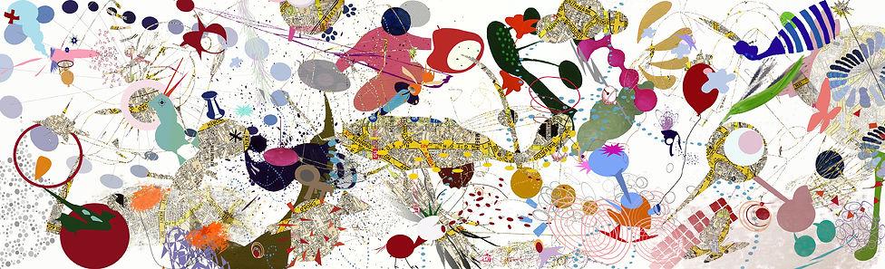 Yoo Yoo around Town 2008,Digital print