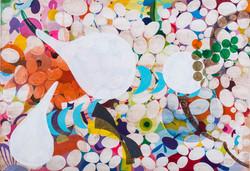 Bombyx Mori Acrylic on canvas 2016