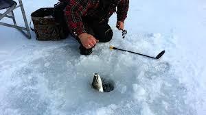 FUN ! SPRING 2017 ICE FISHING IN LOGAN LAKE BC LOG CABIN B&B