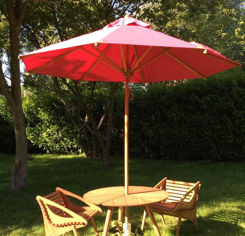 parasol bistro en bambou