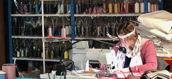 socotex seamstress making masks