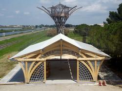 structure bois couverture toile