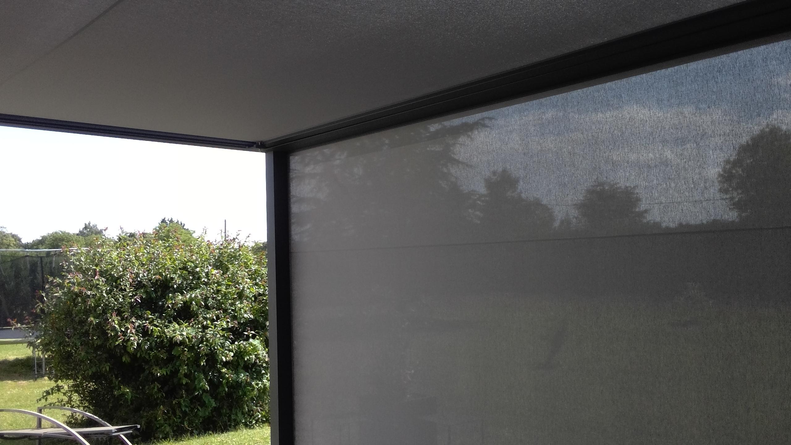 Vertical zip system blinds