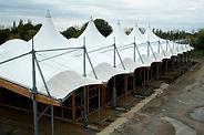 Hall en toile tendue - Gare de Lourdes - Socotex - toiles et structures