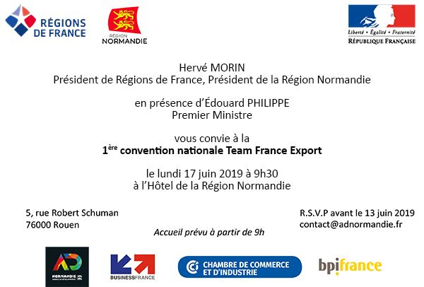 invitation Team France Export