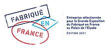 Entreprise sélectionnée pour la Grande exposition du Fabriqué en France au Palais de l'Elysée en 2021