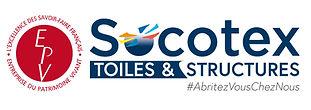 logo EVP, excellence des savoir faire français, entreprise du patrimoine vivant. logo SOCOTEX