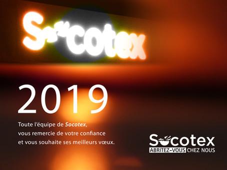Toute l'équipe de SOCOTEX vous souhaite une belle et lumineuse année 2019 !