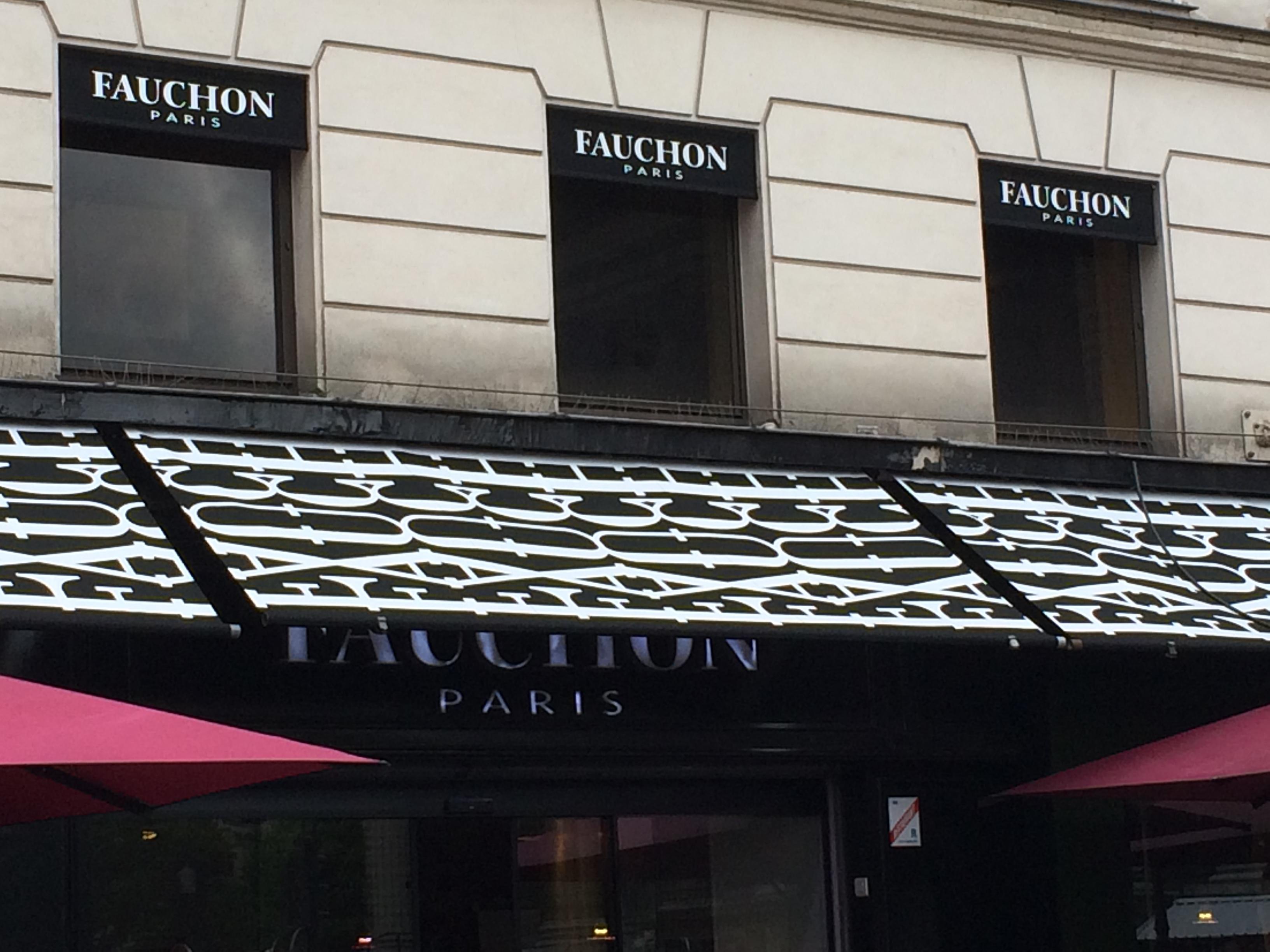 store marquage toile - Fauchon