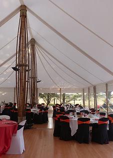Abribambou, la tente de réception bambou, le chapiteau écolo. Fabrication Socotex