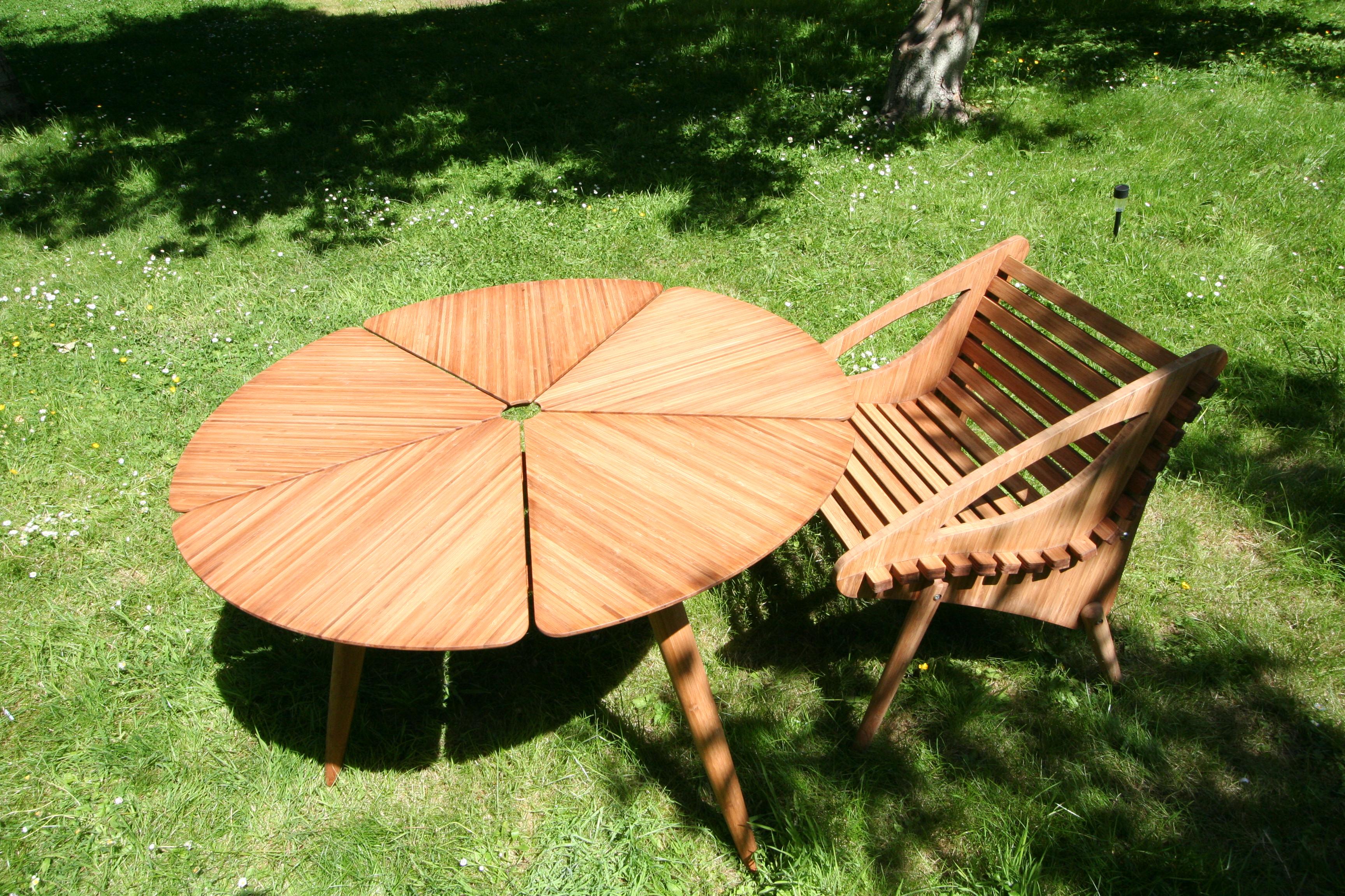 Table bambou petale et fauteuil panda_6901