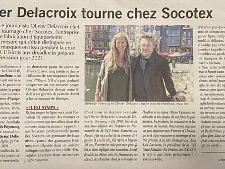 Olivier Delacroix tourne chez Socotex 🎥