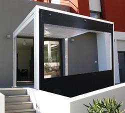 Rideau pergola ideea terrasse