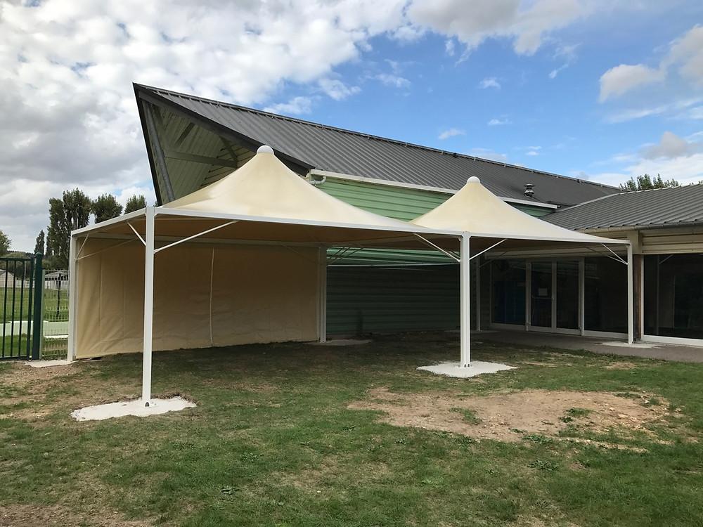 AbriGranville, structure couverture textile sur mesure