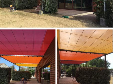 La toile est un élément essentiel pour apporter une protection solaire efficace !
