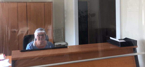 transparent covid protective screen