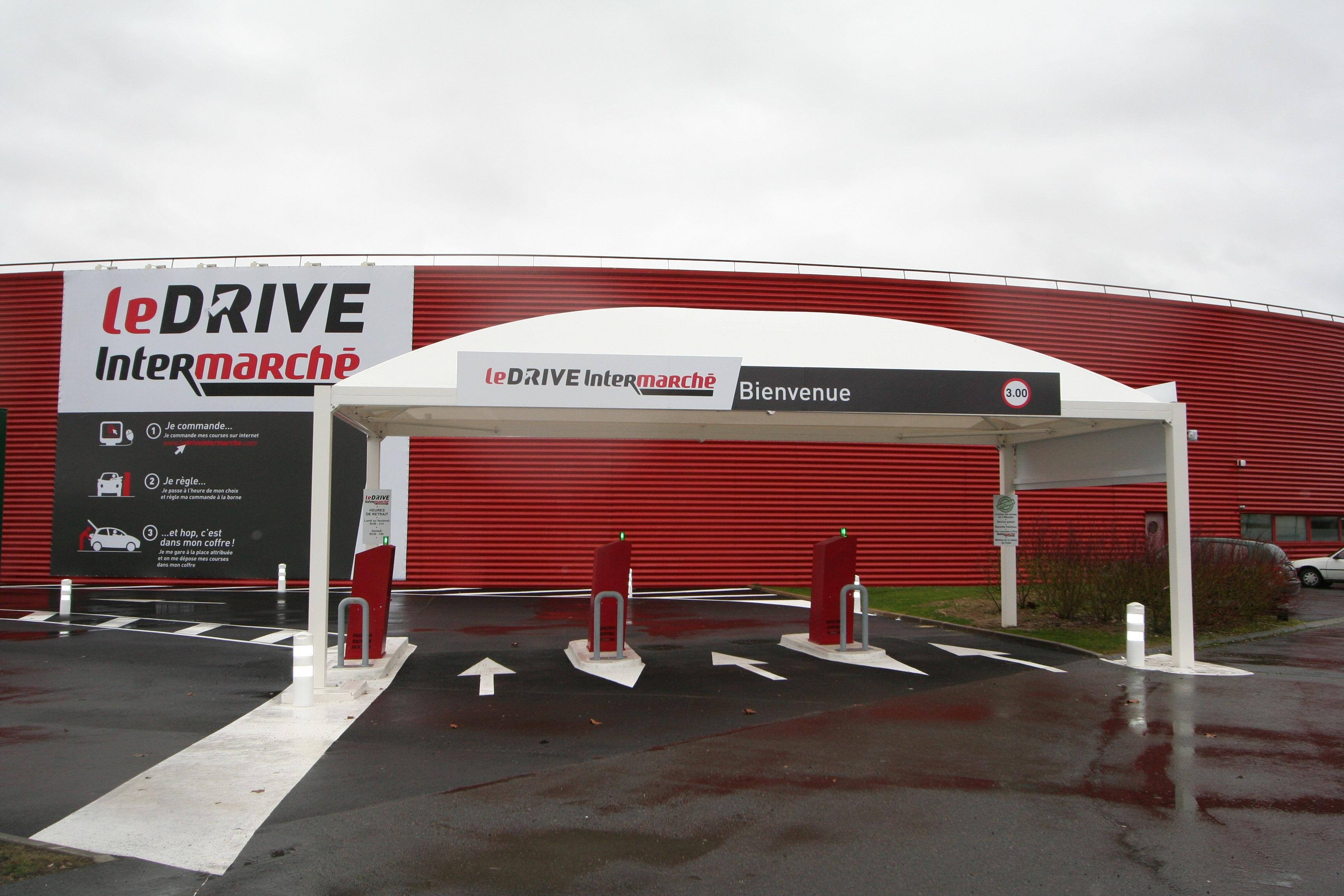 Abri drive pour Intermarché
