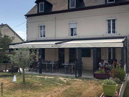 """""""Au Potager"""" a choisi la pergola vélum ID4 pour couvrir sa terrasse de restaurant"""