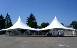 structure metallo-textile pour école
