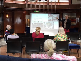 Lecture on RMS Carinthia while on board the Queen Victoria
