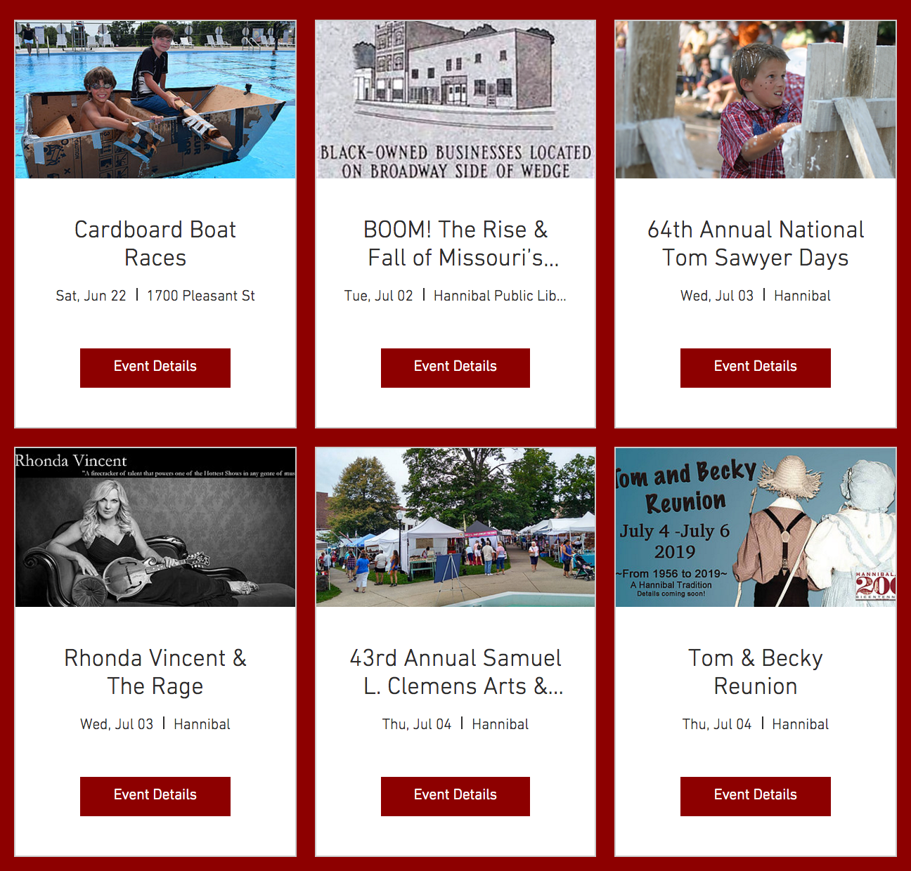 Hannibal Bicentennial 2019 | EVENTS