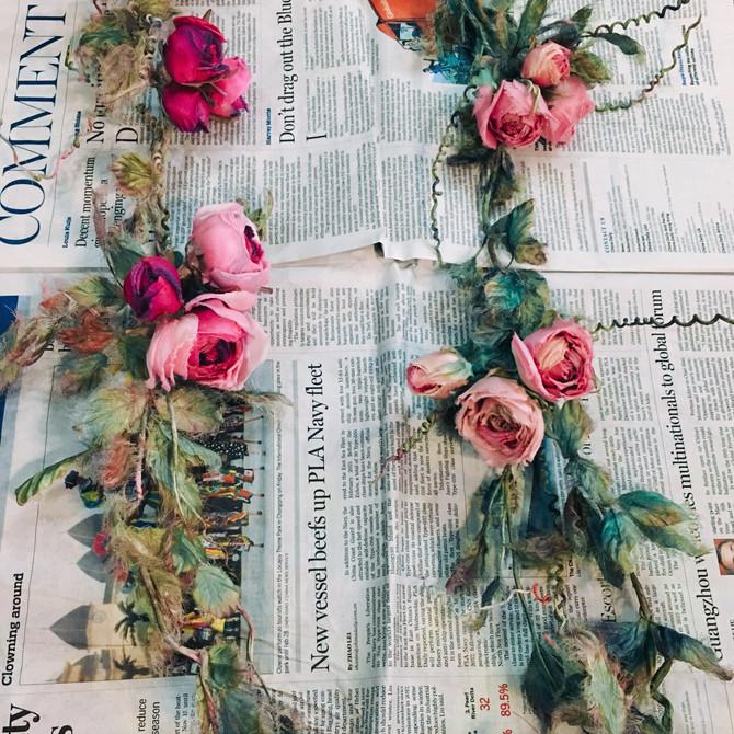 蔓薔薇ご布花教室案内です。