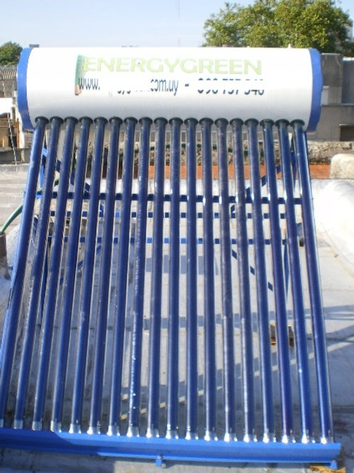 Calentador Solar 150 lts No Presurizado Ac. Galvanizado Full Pipe
