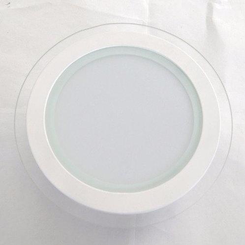 Plafón De Empotrar 12w Blanco Frio 220v C/ Vidrio Decorativo