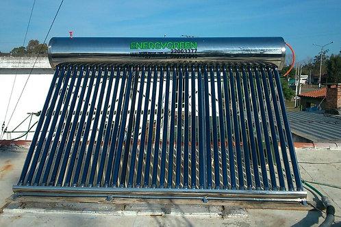 Calentador Solar 300 Lts No Presurizado Ac. Inoxidable Full Pipe
