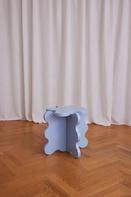 Curvy Table Mini Light Blue