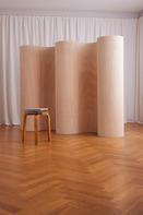 Curvy Room Divider Wood