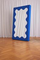 Curvy Mirror Cobalt Blue