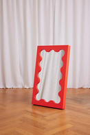 Curvy Mirror Mini Red