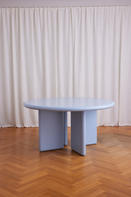 Chunky Round Table Light Blue