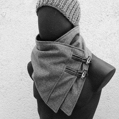 Wool Neck Warmer Grey