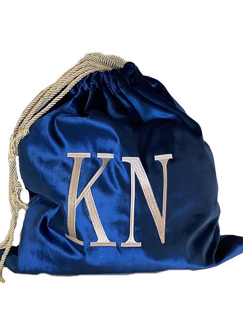Blue Counsel Bag Velvet