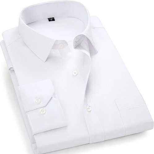 White Shirt with Regular Collar