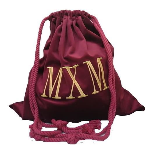 Red Counsel Bag Velvet