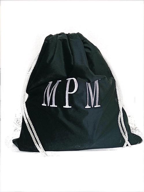 Black Attorney Bag Velvet