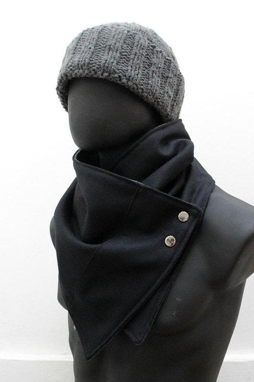 Wool Neck Warmer Black