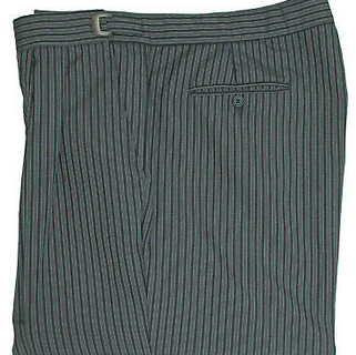 Men's Black and Grey Hickory Striped Pan