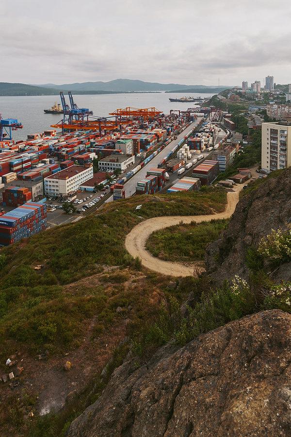 Vladivostok, Slava Ivanov, Commercial Port Container Terminal