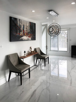 Marble and spacious hallway
