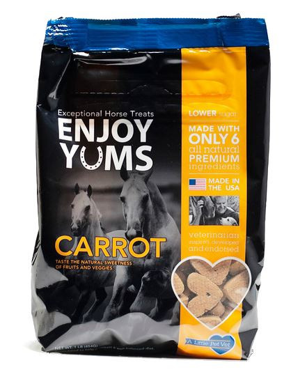 """Exceptional Horse Treats; """"Enjoy Yums"""" are a must have in your tack-box"""