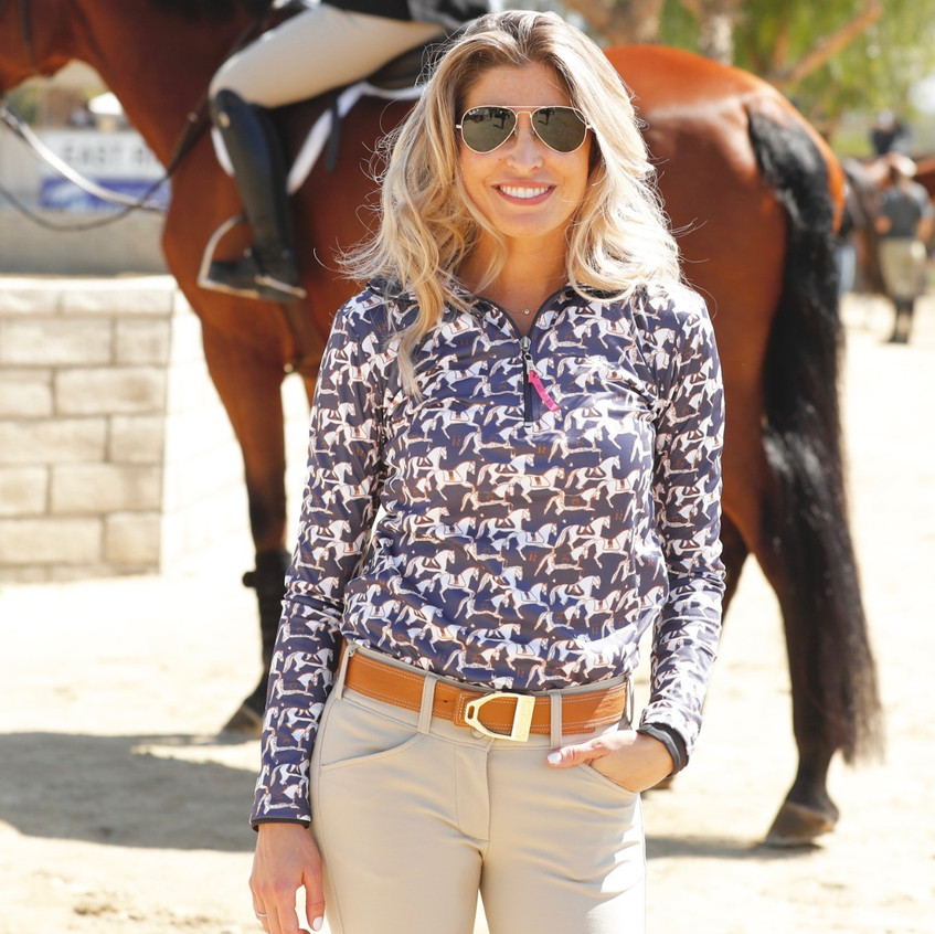 Mane Jane Gold Buckle and Tan Leathe