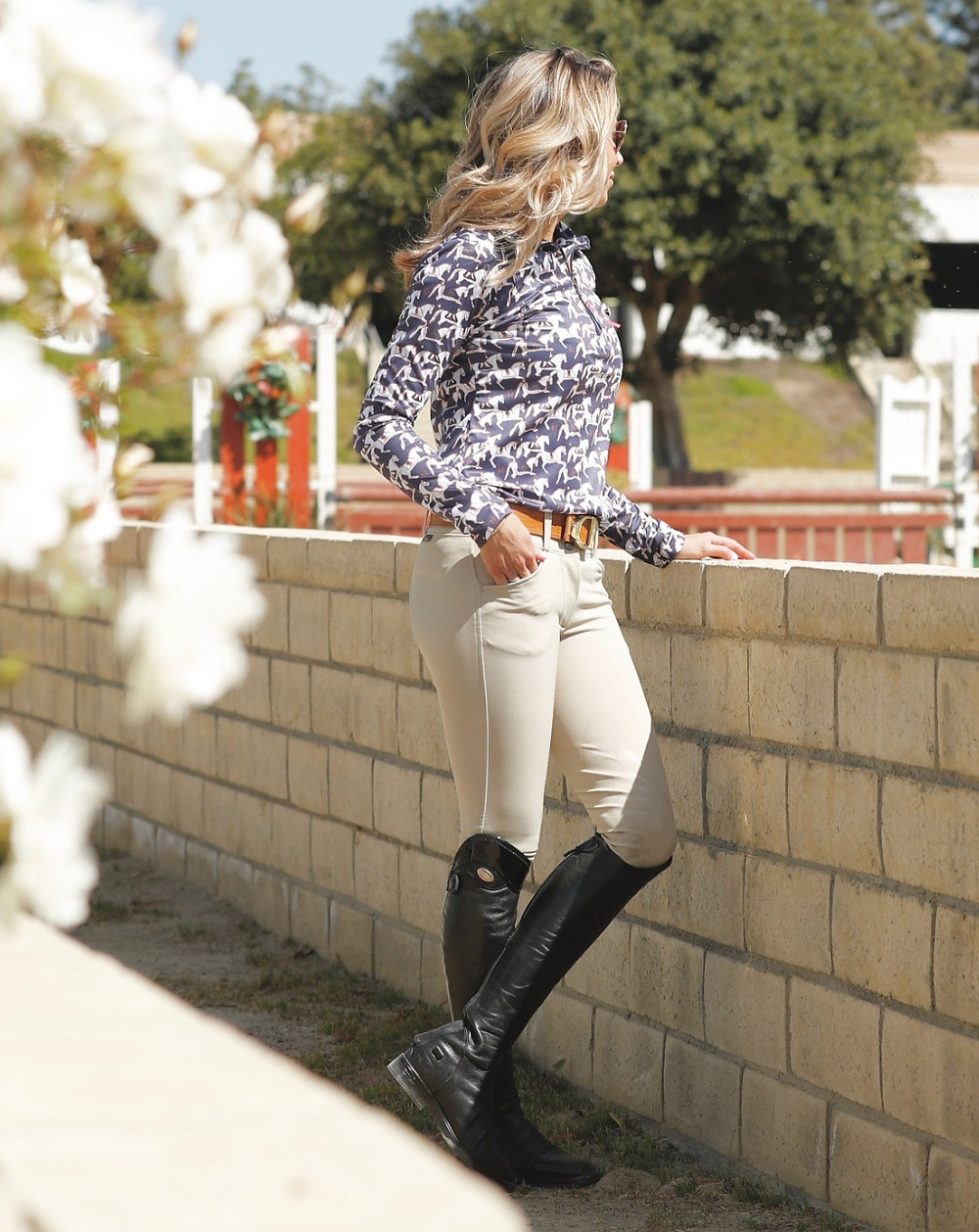 Camelia Zip in mini carousel navy Ronner Design by Life Equestrian
