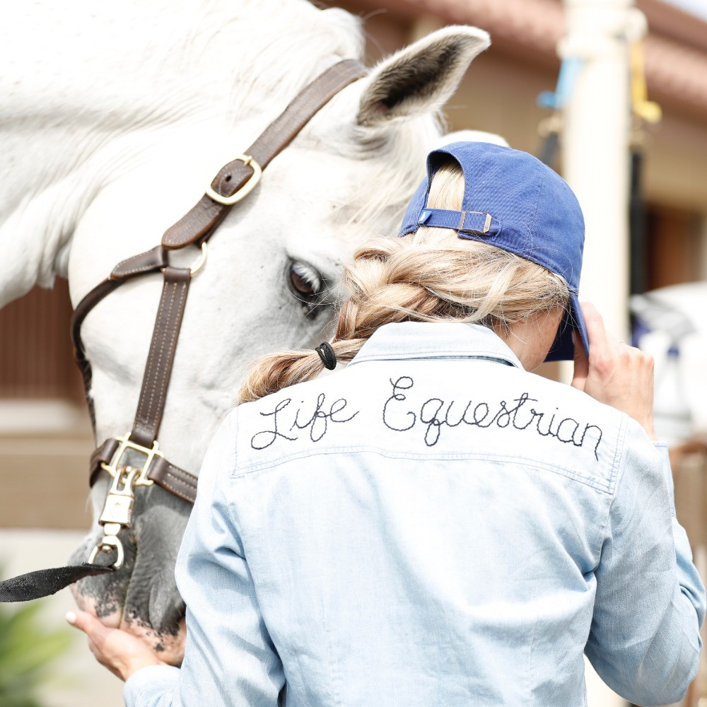 Silver Oaks Hand Embroidered Chambray Denim Shirt Review Life Equestrian