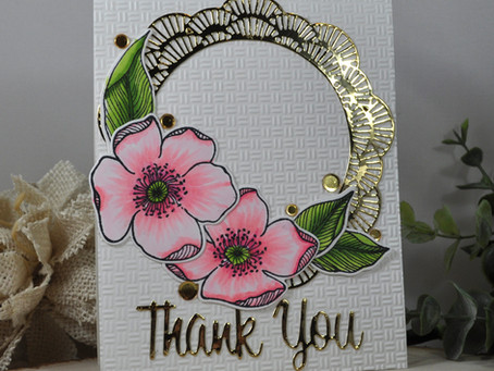 Frilly Frame Thank You